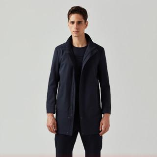 K-BOXING 劲霸男装 男士风衣秋季中长款商务休闲时尚立领男式夹克大衣外套