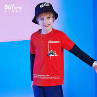 361° 儿童撞色拼接长T恤