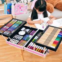 美煌 画画礼盒 208件 双层铝盒绘画笔