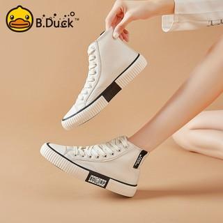 B.Duck 女士高帮小白鞋 Y133920A