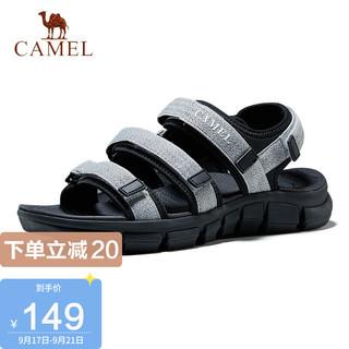 CAMEL 骆驼 凉鞋男韩版百搭青年休闲运动潮流沙滩鞋男鞋 A02262L0137 男款灰色 44
