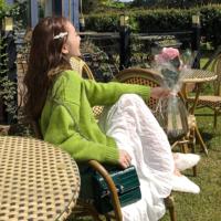夏欧瓦 慵懒风ins糖果色毛衣女外穿小清新chic宽松套头学生针织上衣秋冬