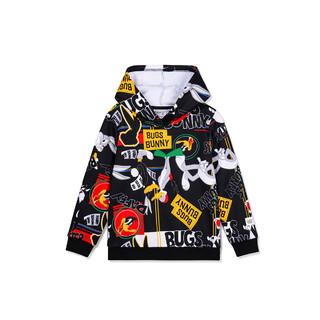 XTEP 特步 专柜同款男童小童兔八哥联名连帽卫衣 儿童保暖上衣