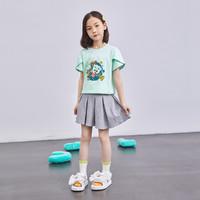 ABCKIDS TOM猫联名女童短袖儿童T恤洋气花瓣袖女孩上衣