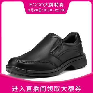 ecco 爱步 2021年新款一脚蹬商务休闲皮鞋男鞋 融合500144