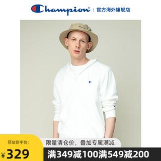 Champion CHAMPION冠军男士休闲宽松连帽卫衣小C标潮流拉链外套装