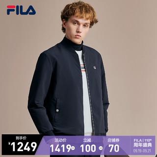 FILA 斐乐 官方男子外套2021冬季新款时尚休闲时尚两面穿梭织外套
