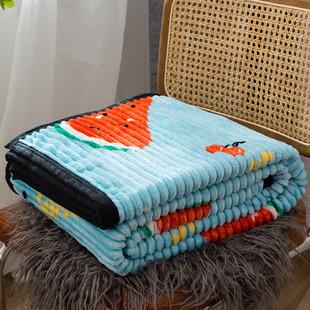 法兰绒毛毯午睡毯