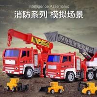 abay 儿童玩具车惯性回力工程车吊车运输车