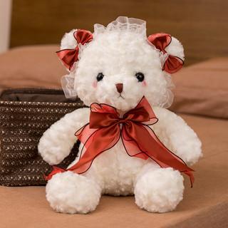 蔷薇之恋 可爱泰迪熊毛绒玩具抱枕女孩生日礼物抱抱熊公仔洛丽塔布娃娃玩偶