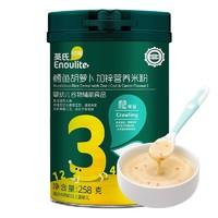 PLUS会员:Enoulite 英氏 多乐能系列 加锌营养米粉 国产版 3阶 鳕鱼胡萝卜味 258g