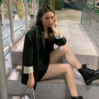 TONLION 唐狮 2020秋季新款休闲西装外套女灰色时髦洋气小西装气质宽松上ZW