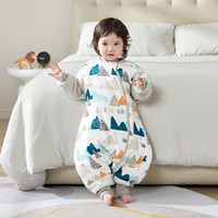 belopo 贝乐堡 婴儿睡袋春秋冬季宝宝儿童恒温防踢被新生婴儿加厚款纯棉分腿睡袋