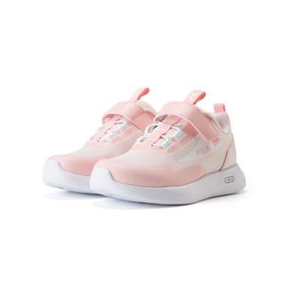 FILA 斐乐 女小童(24-32)儿童训练鞋女童鞋轻便透气魔术贴休闲运动鞋