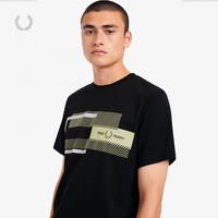 FRED PERRY 佛莱德·派瑞 男士短袖T恤秋季新款字母棉休闲潮流麦穗体恤M1599