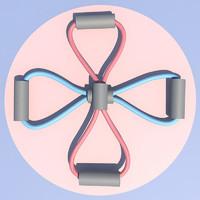 8字拉力绳 背部训练器家用 1条