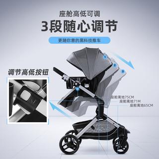 GRACO 葛莱 0-3岁可躺 双向高景观婴儿推车+提篮+安全座椅 秒变睡篮