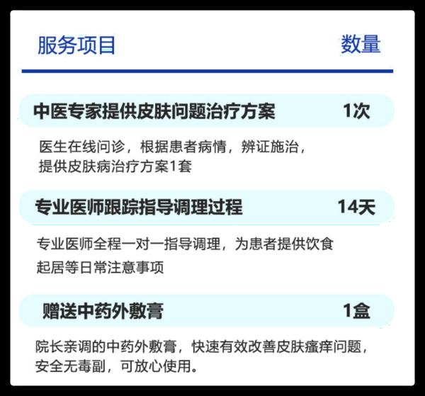 14天中医皮肤改善体验官