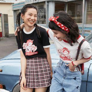 女士圆领印花T恤  321201106S59