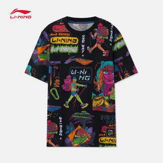 LI-NING 李宁 CHINATOWN MARKET联名 AHSR897 男士圆领运动T恤