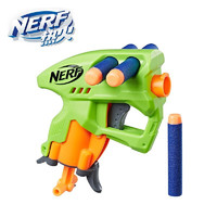 Hasbro 孩之宝 NERF热火 男孩儿童玩具中秋礼盒模型儿童户外软弹玩具枪 纳米发射器 绿色和蓝色随机发货E0121
