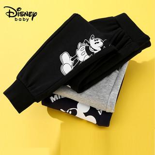 Disney 迪士尼 童装男童裤子春秋季男孩长裤2021年新款宝宝运动裤儿童秋装