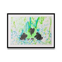 维格列艺术 冀皓天《森林火焰》21x29.7cm RISO印刷 版画 装饰画