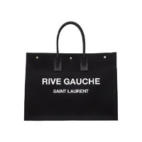 SAINT LAURENT 圣罗兰 PARIS 圣罗兰 女士亚麻和皮革RIVE GAUCHE大号托特包