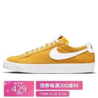 NIKE 耐克 男子 板鞋 经典 百搭 BLAZER LOW '77 SUEDE 运动鞋 DA7254-700速度黄色