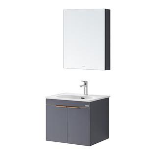 HUIDA 惠达 实木轻奢浴室柜组合套装分层储物收纳镜1561N-60送龙头套装