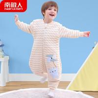 Nan ji ren 南极人 Nanjiren) 婴儿睡袋抱被纯棉儿童防踢被子春秋冬睡衣宝宝薄棉空气层分腿睡袋