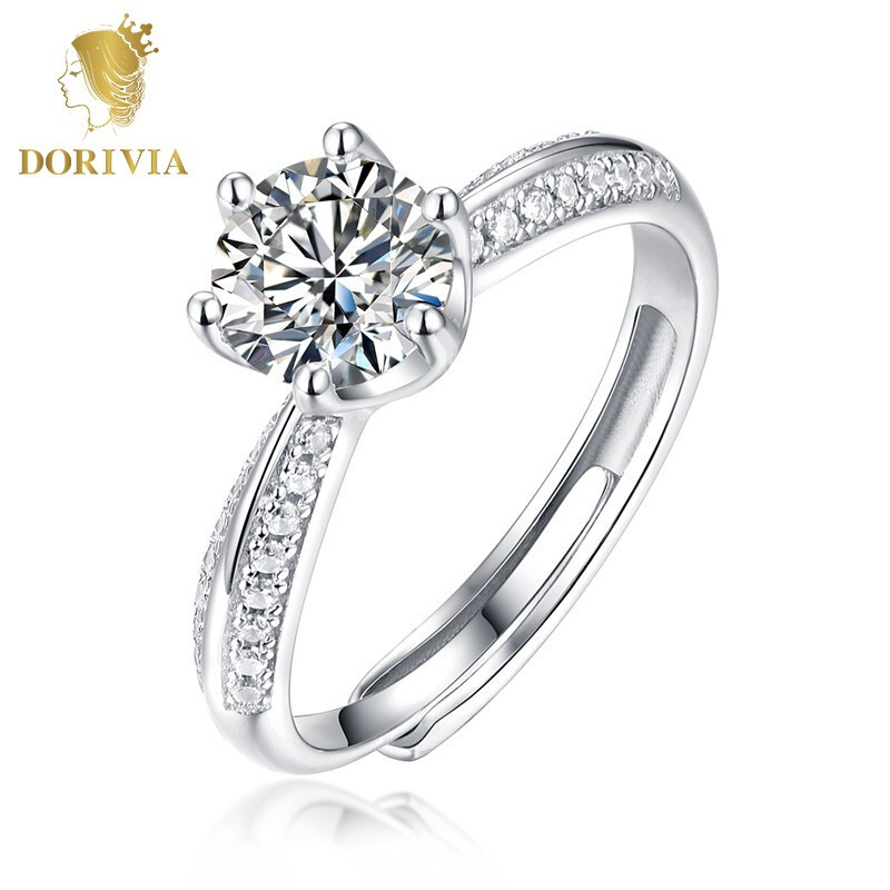 DORIVIA 多利维娅 MSZJ010 命中注定 1克拉六爪戒指