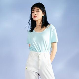 ONLY 2021秋季新款凉感圆领宽松简约百搭纯色短袖T恤女|121101021