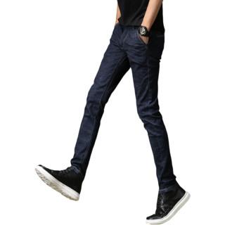Gomoku牛仔裤男韩版潮秋季新款弹力显瘦修身小脚裤青少年休闲男裤