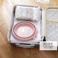 JAJALIN 折叠洗手盆便携式洗衣盆加厚伸缩盆旅行可装热水压缩盆