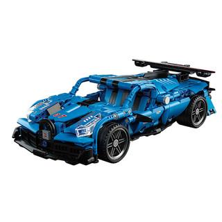 兒童玩具積木拼裝小顆粒 布加迪跑車521+顆粒