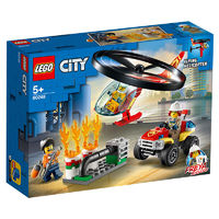 LEGO 乐高 城市系列 60248 消防直升机高空救援