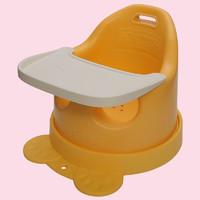 anbebe 安贝贝婴儿餐椅 便携式多功能 宝宝餐椅 儿童餐椅 吃饭桌椅座椅 学坐椅 音乐餐椅 黄餐椅+礼包(四件套)