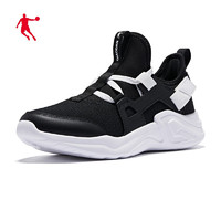 QIAODAN 乔丹 官方旗舰官方运动鞋男鞋女鞋2021年运动鞋女鞋跑步鞋男 黑色/白色(女厚网) 37
