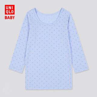 UNIQLO 优衣库 温暖内衣保暖衣) 婴儿/幼儿HEATTECHU领T恤(长袖)429859