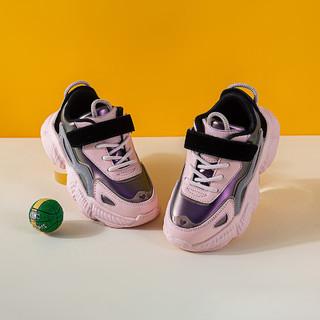 follow me 富罗迷 女童运动鞋21年秋季新款软底舒适防滑休闲运动鞋男童跑步鞋