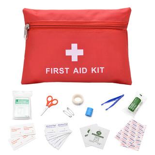 四万公里 急救包 旅行户外便携家用医药箱 应急医疗包套装 车载车用野外用品 SW5002 红色