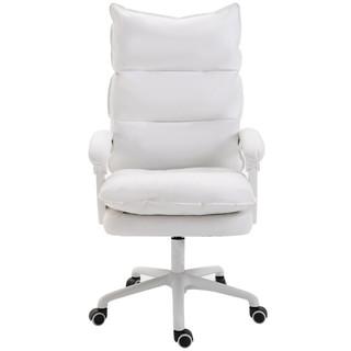 YORKCHAIR 可躺家用电脑椅 皮革白色 钢制脚