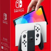 Nintendo 任天堂Switch OLED款高续航游戏机 黑白配色 海外版