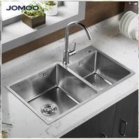 JOMOO 九牧 06159 304不锈钢双槽厨房水槽