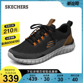 SKECHERS 斯凯奇 Skechers斯凯奇2021秋季新款男士运动休闲鞋子网面舒适减震跑步鞋