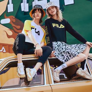 FILA 斐乐 FUSION系列女鞋运动休闲鞋舒适时尚潮流防滑女式复古篮球鞋