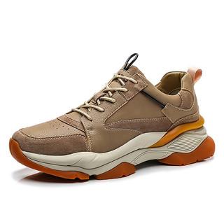JEEP 吉普 冬季新款吉普男士休闲鞋轻便透气户外运动鞋防滑耐磨登山男鞋