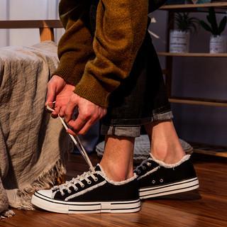 TONLION 唐狮 2020新款低帮帆布鞋男潮流个性须边男鞋春季舒适休闲鞋男潮鞋