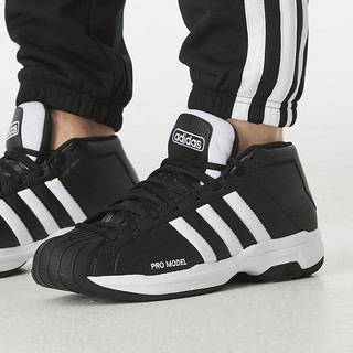 adidas 阿迪达斯 Pro Model 2G - Synthetic 男式休闲运动场上款篮球鞋